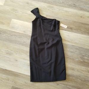 NWT Nanette Lepore Black One Shoulder Dress